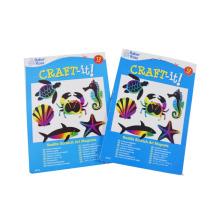 2017 crianças jogando cartões de animais cartões de impressão scratch off cartão
