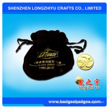 Moneda deportiva de moda del metal con el logotipo de la placa de oro