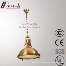 Европейский старинные Антикварные латуни и железа подвесной светильник для ресторана