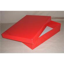 Boîte cadeau en papier noir écologique avec couvercle pour chemise