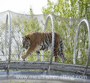 Stainless Steel Cable mesh Zoo Animals