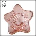 Rose gold star badge pin metal