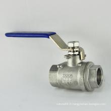 JIS ANSI en acier inoxydable cf8m ss316 2 pouces 2 pièces femelle filetée vissé robinet à tournant sphérique pn16