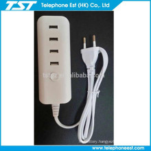 hot sale 4 usb multi wall charger adapter for ipad EU PLUG