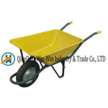 Wheelbarrow Wb6401 roue de roue PU