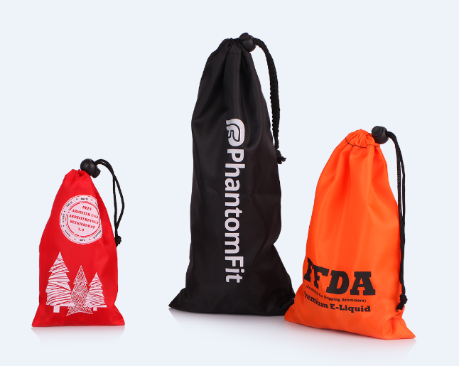 Waterproof nylon drawstring pouch