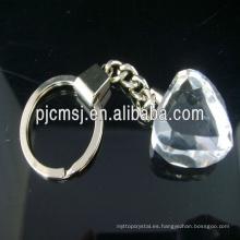 Llaveros de cristal en blanco promocionales para el pequeño regalo