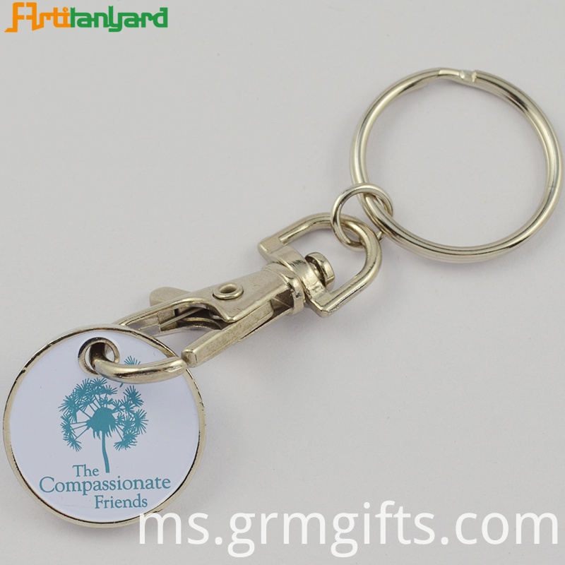 Metal Customzied Trolley Keychain