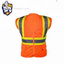 Custom 100% Polyester Mesh wholesale china high visibility motorcycle running Traffic security guard reflective safety vest