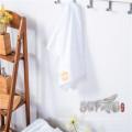 Hotel towel / Soft satin border bleach white crown cotton bath towel sets