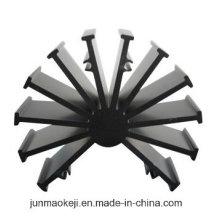 Aluminium Extrudierte Kühlkörper mit schwarzem