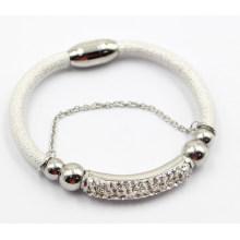 Alta qualidade pulseira de couro da jóia da forma com encantos do aço inoxidável