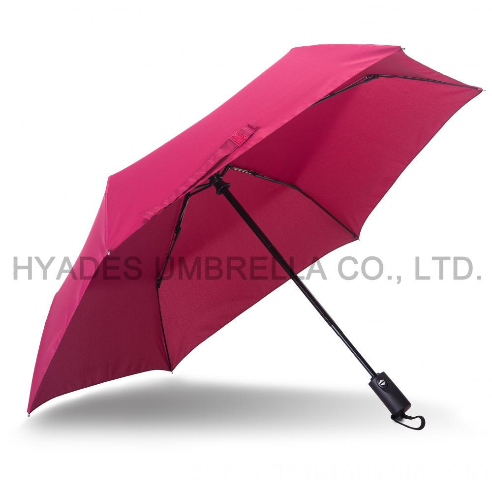 auto open and close folding umbrella wine color