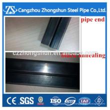 Tubo de acero cuadrado de carbono soldado recocido negro