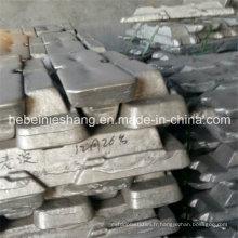 Chine De haute qualité Pure 99,7% 99,9% Lingot d'aluminium