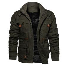 Veste de survêtement de style militaire chaud en molleton épaississant pour l'hiver