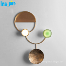 Nordic style interior decoration copper living room led wall lamp lighting