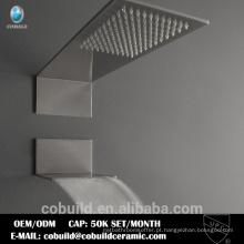New Arrival Retangular Multi-Funções Waterfall Rainfall Embed Ceiling Bathroom Shower Set