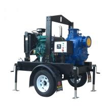 T série 6 pouces auto-amorçante non-colmatant la pompe d'eaux d'égout avec la pompe à eau diesel ouverte d'impulseur avec le tracteur