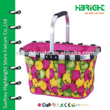 canvas tote basket bag with picture