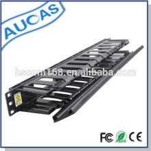 Plástico 1U 12 puertos 19 pulgadas rack de red cabionet sistema de gestión de cables para la clasificación cable de remiendo