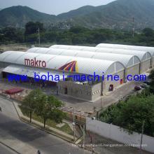 Bohai Arch Roof Building Machine on Ground