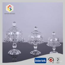 Carrinho do bolo de casamento com cúpula de vidro atacado