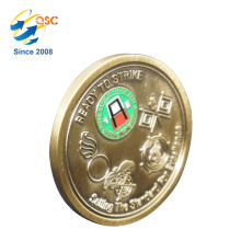 China Suppliers Low MOQ Good Price Brass Military Metal Challenge Coin