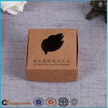 Kraft Paper Folding Package Tvål Box Design
