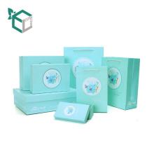 Grüne Farbe Custom Geschenk Set Box mit Blumen-Design