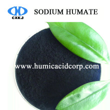 High water soluble sodium humate powder