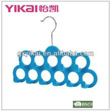 black round plastic scarf hanger with 11belt racks