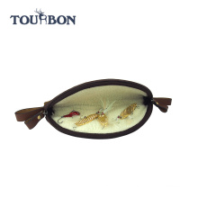 Tourbon large size canvas and genuine leather deluxe fly wallets fly fishing equipment