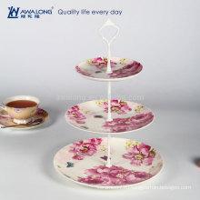 Три слоя Красный цветок Уникальный стиль Рождественские дизайн плиты, тонкой керамической плиты и блюда
