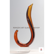 Abstract Modern Art Glass Sculpture