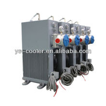 Enfriador de aceite 12v / 24v DC con ventilador para bomba de hormigón
