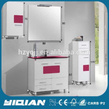 Hangzhou 32 pulgadas gabinete moderno piso PVC impermeable diseño de muebles de baño de plástico