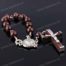 La venta caliente de la manera de la manera rebordea la pulsera del rosario con el corchete de la langosta