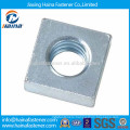 Carbon steel zinc plated regular square nut, thule square nut
