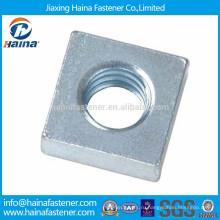 Углеродистая сталь оцинкованная обычная квадратная гайка, квадратная гайка тула