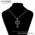 33465 xuping 2018 Best selling fashion  black gun color elegant  cross pendant