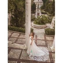 Vestido de noiva de noiva com vestido de noiva com vestido de noiva com estilo romântico
