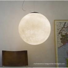 Modern Chandelier Decorative Planet Globe Moon Globe White Acrylic Pendant Lights