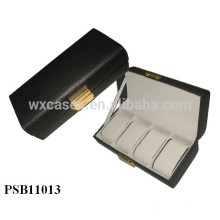 boîte de montre en cuir de haute qualité pour 4 montres grossistes fabricant