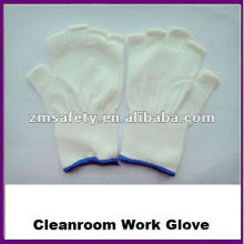 Guantes de trabajo de medio punto de nylon sin costuras de medio dedo ZMR424