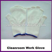 Половина Finger бесшовные вязать нейлона работы перчатки для чистых помещений ZMR424