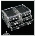 Wholesale Square Clear Acrylic Box With Drawer