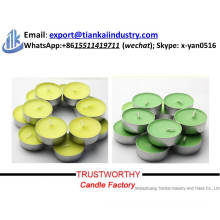 factory supply candle making best price colorful tealight candle