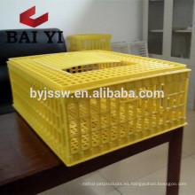 Jaula de alta calidad del transporte de las aves de corral del plástico / caja del volumen de ventas
