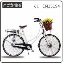 MOTORLIFE/OEM EN15194 2017 competitive price city e bike, ladies ebike.